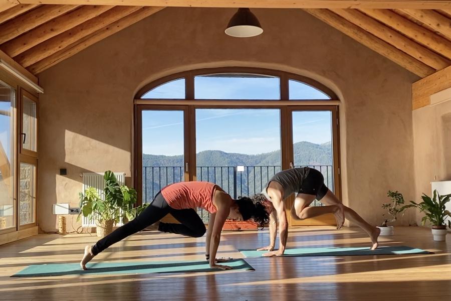 Movimiento y fuerza ejercicios de abdomen Casa Cuadrau Yoga