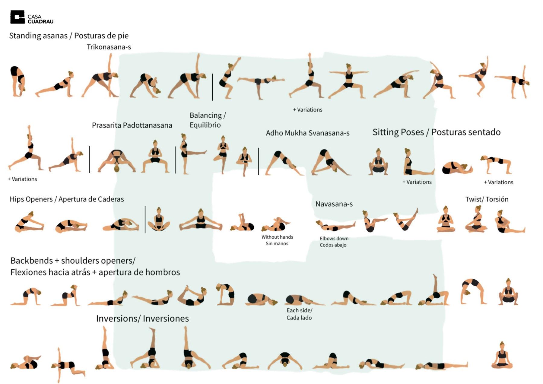 Secuencia de Yoga Casa Cuadrau
