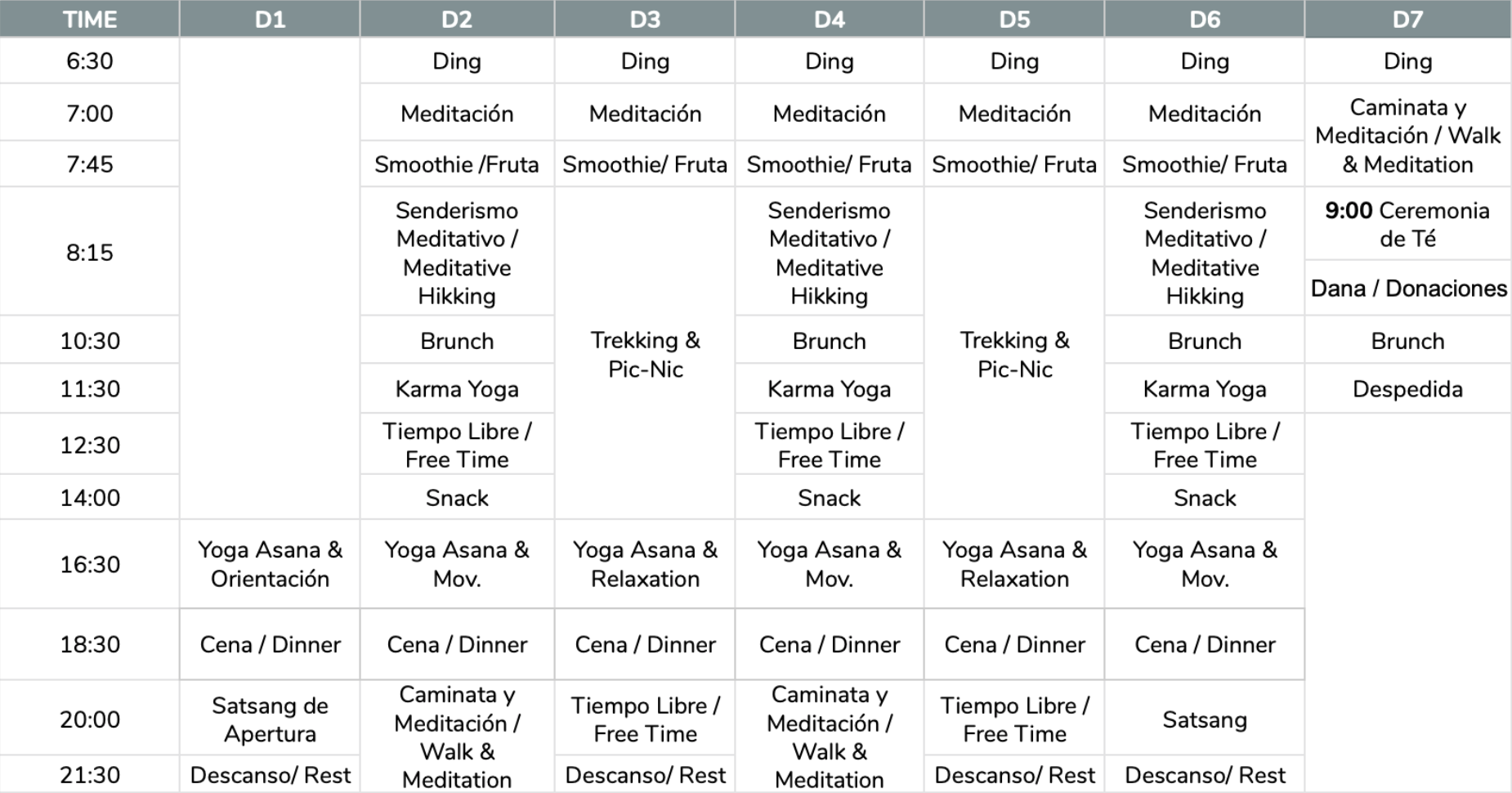 Retiro Yoga Meditación Senderismo Casa Cuadrau verano 2020